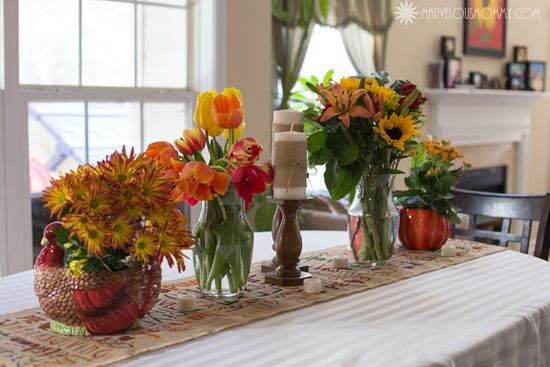 DIY Burlap Thanksgiving Tablescape #PFdecorates « Company Review « Marvelous Mommy