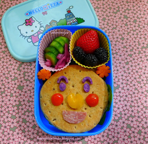 Anpanman Egg Salad Sandwich Bento by sherimiya ♥