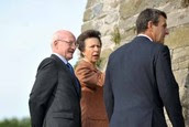 Princess Ann at Oystermouth Castle (Evening Post)