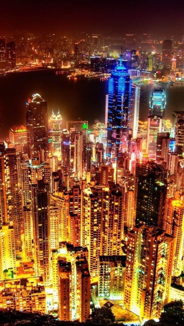 City Lights iPhone Wallpaper - WallpaperSafari