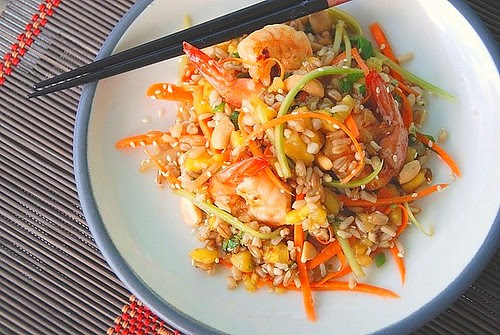 asian 7 grain shrimp salad