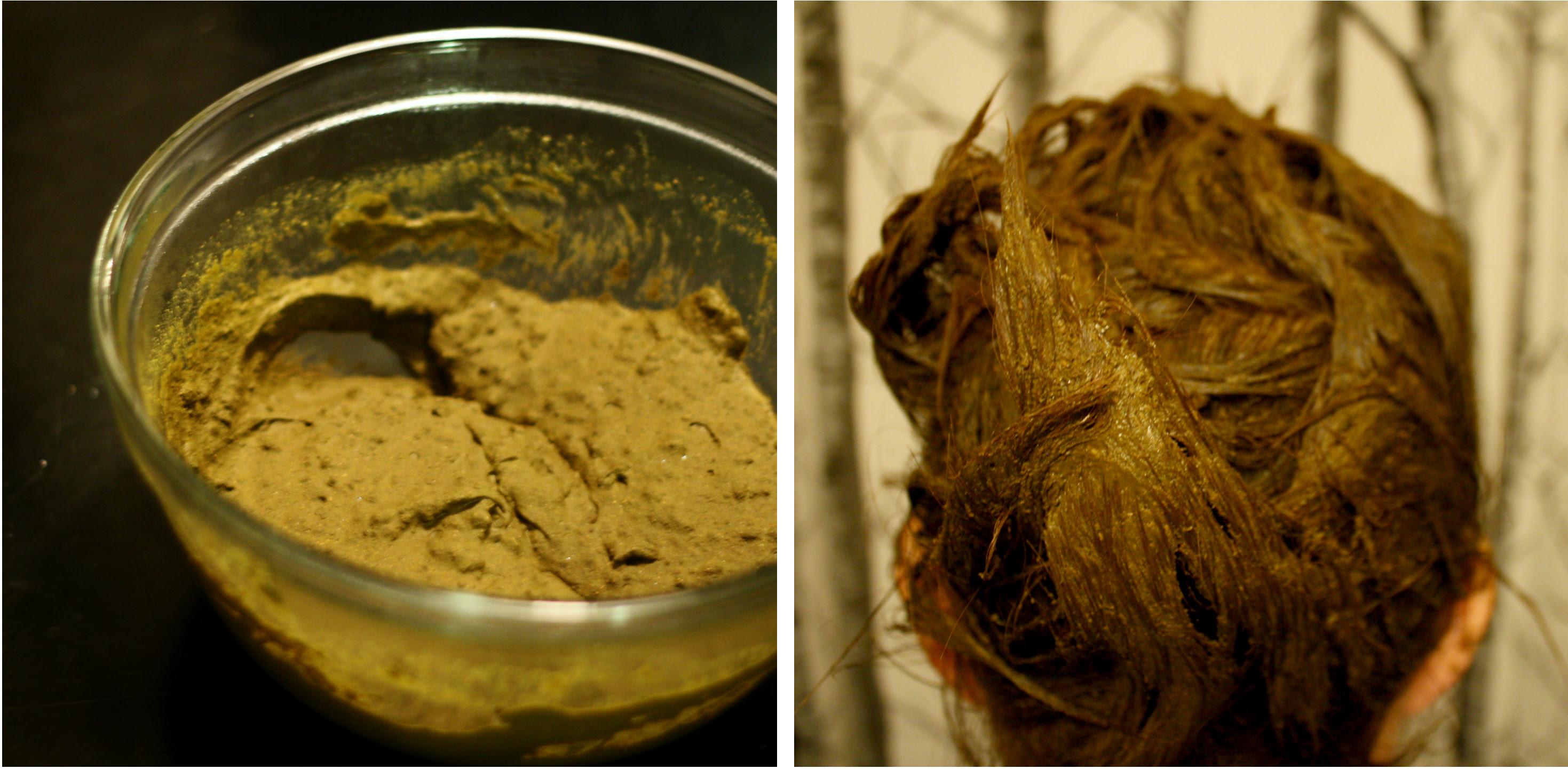 henna hair dye process