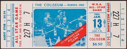 1976 WHA All-Star ticket