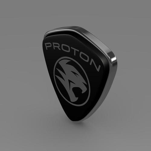 Proton logo 3D Model .max .obj .3ds .fbx .c4d .lwo .lw