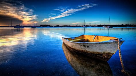nature exceptional boat anchored picture nr