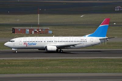 FlySafair (Safair) Boeing 737-4Y0 ZS-JRD (msn 24917) JHB (Paul Denton). Image: 921016.