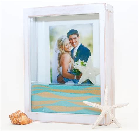 Unity Sand Ceremony White Washed Picture Frame