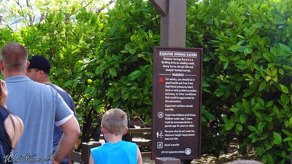 Disneyland Resort, Disney California Adventure, Cars Land, Radiator Springs Racers, Fast Pass, FastPass, Sign