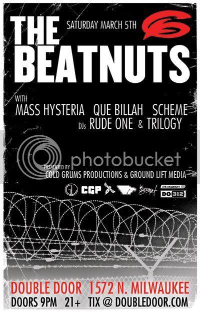 The Beatnuts,Chicago,Hip Hop,Darkroom,DJ Trilogy,Scheme,Rude One,Que Billah,Mass Hysteria
