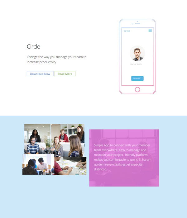 Simple Social Builder Layout