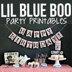 Party Printables at Lil Blue Boo