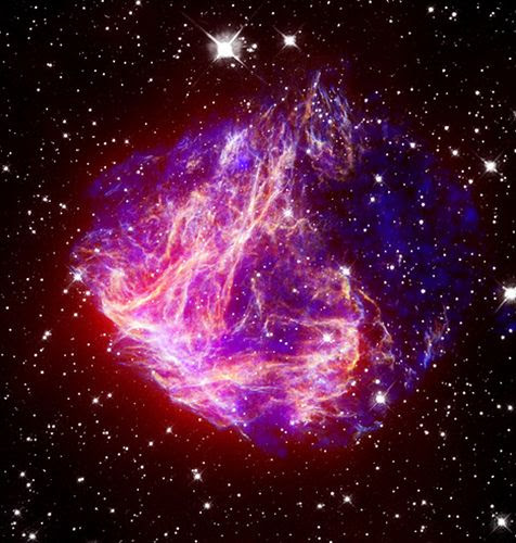 The remnants of Supernova N49 (NASA, Chandra, 11/29/2006). What's left after a star explodes.