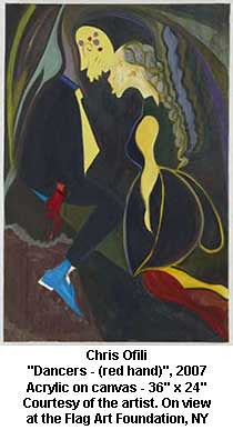 "Chris Ofili - ""Dancers - (red hand)"", 2007 by artimageslibrary"