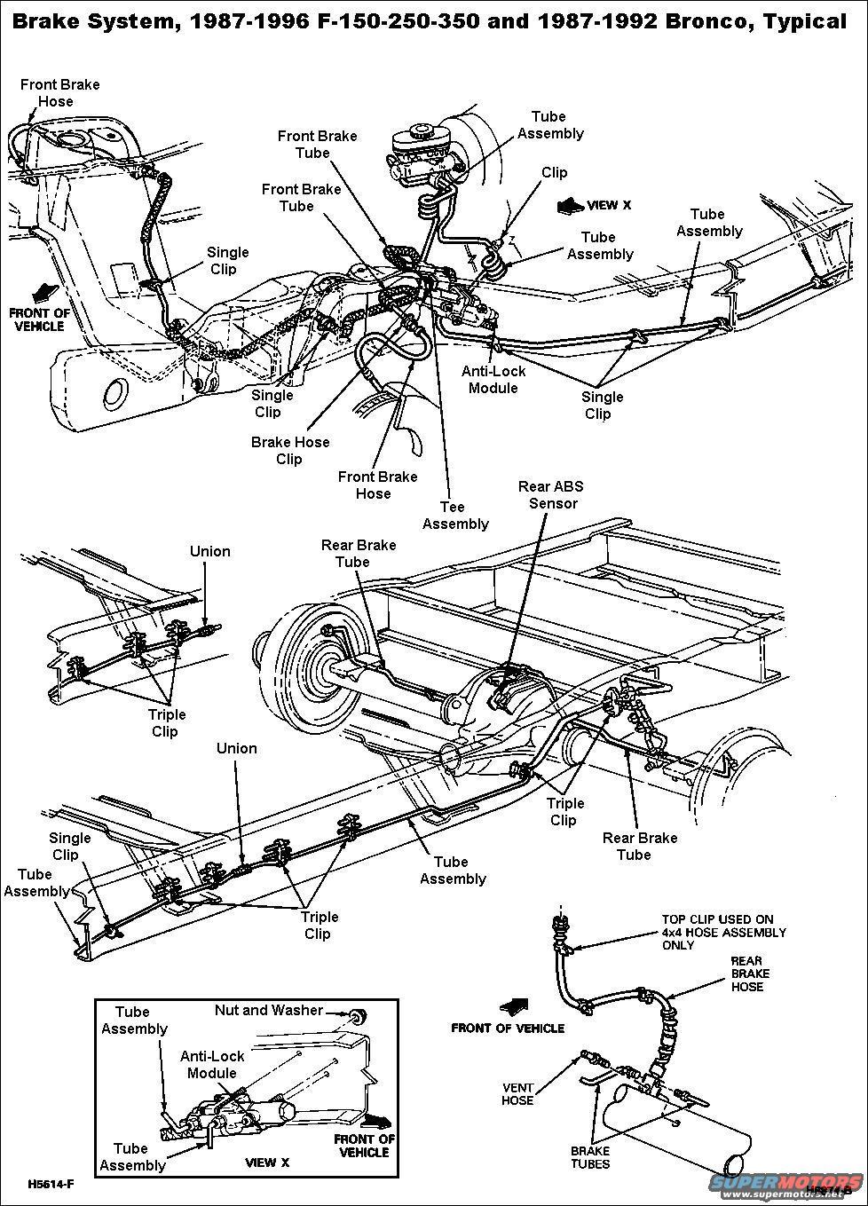 34 Ford F250 Brake Line Diagram