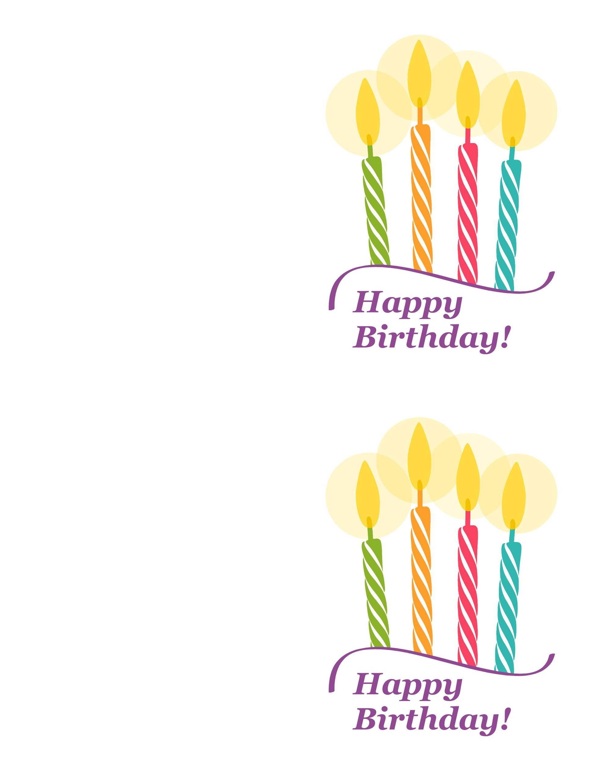 Birthday Card Print Card Design Template