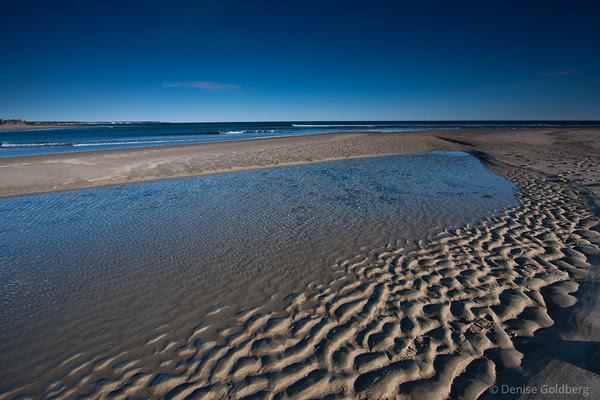 ocean, patterns in sand, Wells Reserve