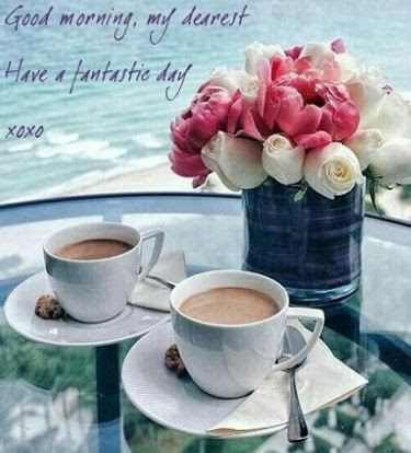 Good Morning Wishes With Coffee And Flowers Flowers Healthy