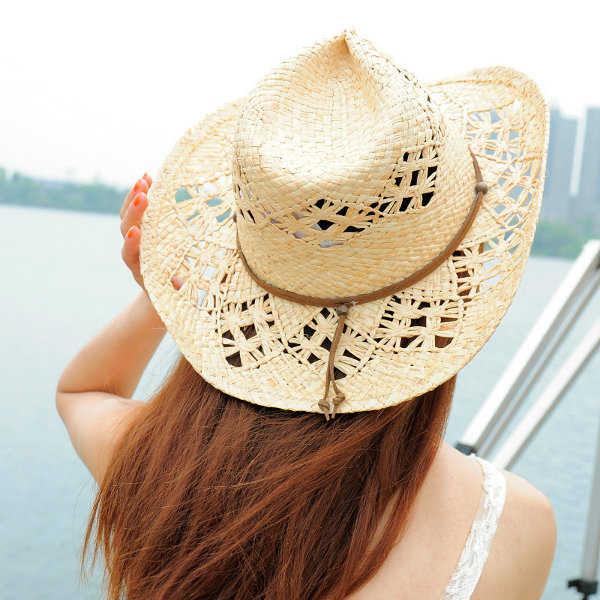 Sombrero estilo vaquero para la playa