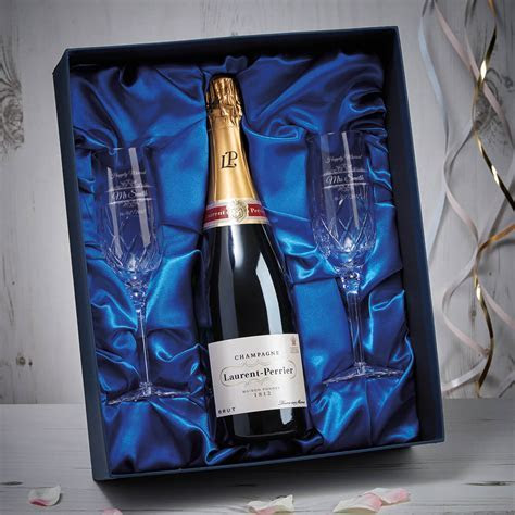 Personalised Happily Married Blenheim Flutes In Champagne