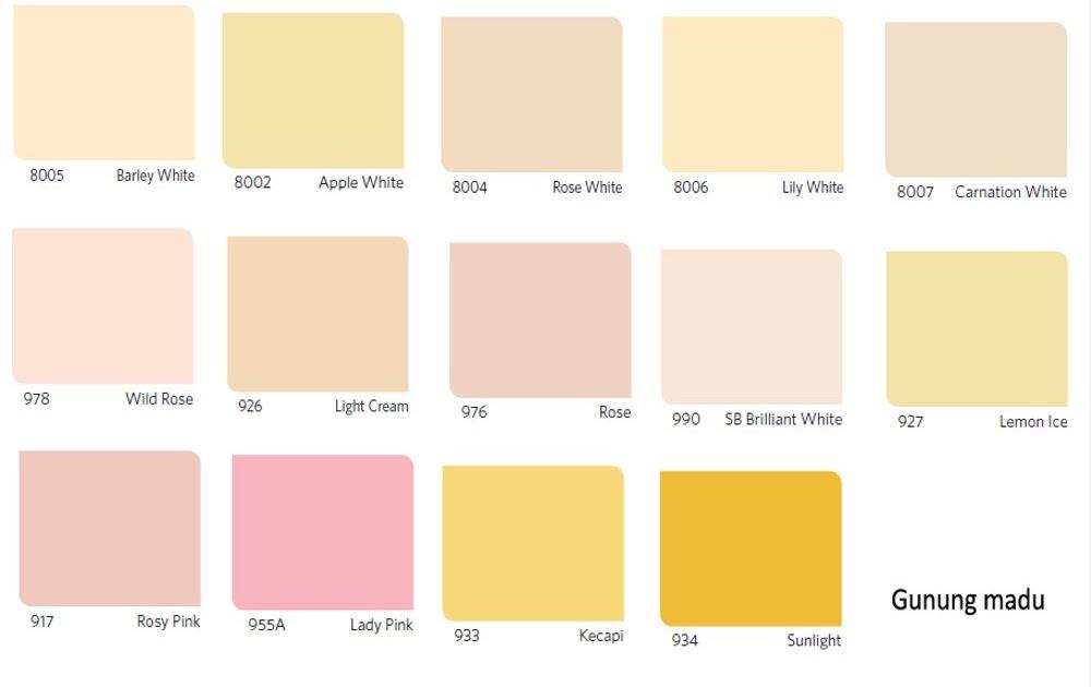 Inspirasi Penting 35 Warna  Cat  Rumah Vinilex Cream