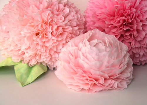 coffee filter flower centerpiece