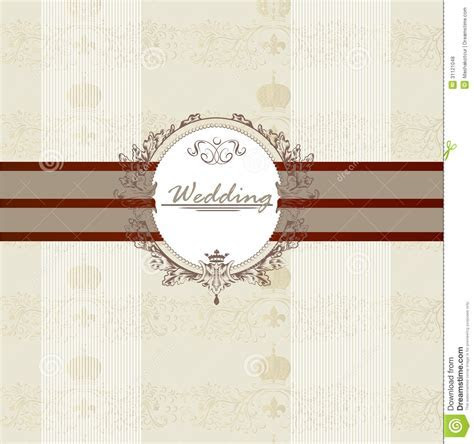 Wedding Invitation Card For Design Stock Vector   Image