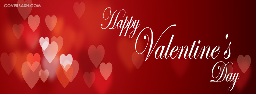 Heart Filled Valentines Day Facebook Cover Coverbashcom