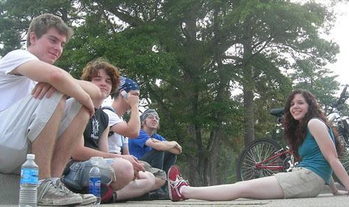 Hayden, Paul, Stewart, Fizzy, Susan at Columbia Park by trudeau
