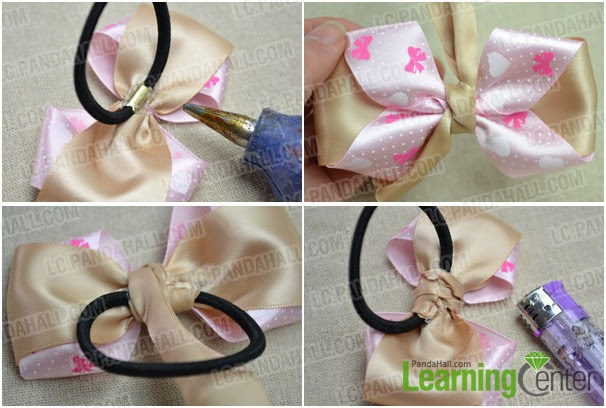 How to Make a Simple Hair Bow Out of Bicolored Ribbons- Pandahall.com