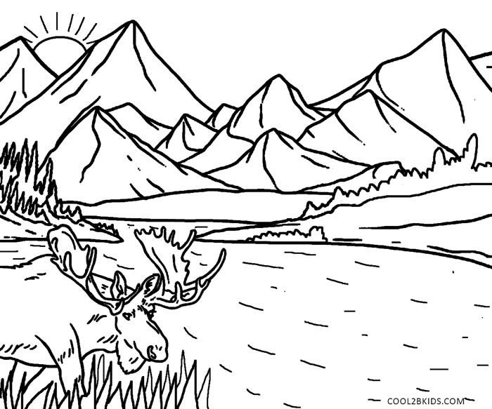 Free Online Coloring Pages For Adults Nature Coloring And Drawing