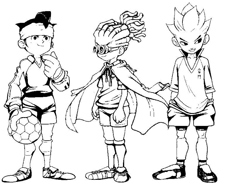 Coloring Page Inazuma Eleven 1