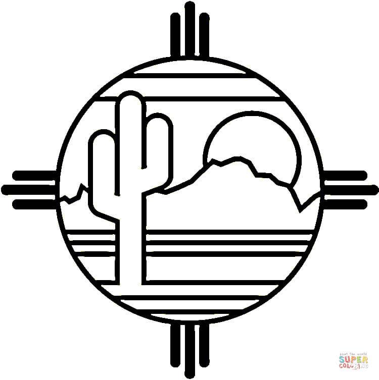 Dibujo De Desierto Mejicano Para Colorear Dibujos Para Colorear