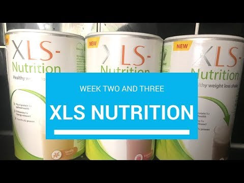 Xls nutrition week 2-3 results
