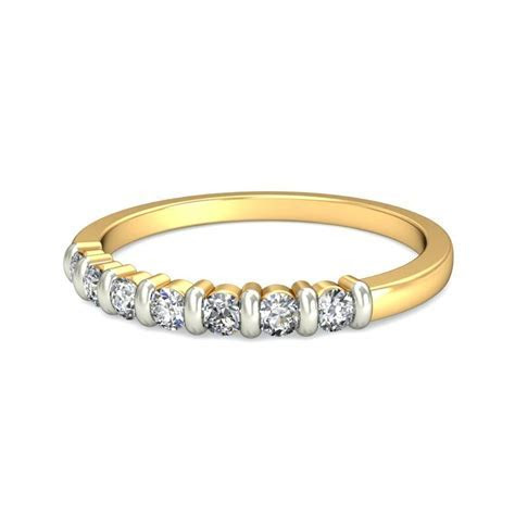 Inexpensive Yellow Gold Round Diamond Wedding Band