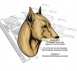 Old English Terrier Dog Intarsia or Yard Art Woodworking Pattern - fee plans from WoodworkersWorkshop® Online Store - Old English Terriers,dogs,pets,animals,yard art,painting wood crafts,scrollsawing patterns,drawings,plywood,plywoodworking plans,woodworkers projects,workshop blueprints