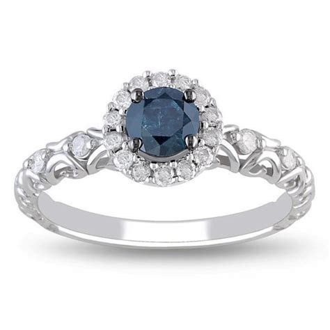 Precious Sapphire and Diamond Cheap Engagement Ring 0.75