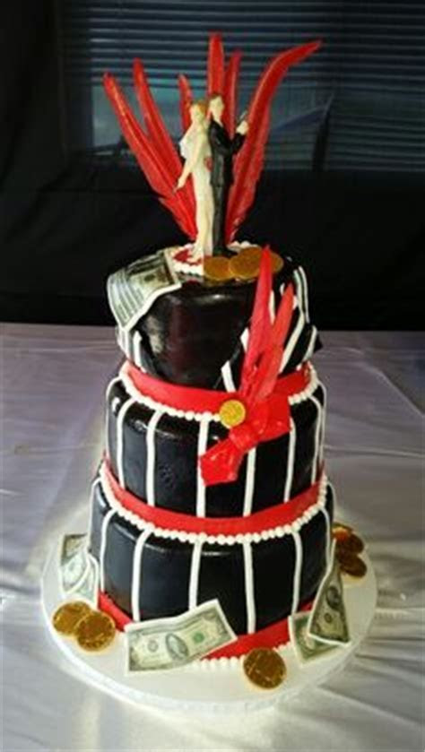 Bonnie and Clyde themed wedding cake   events by Decorate