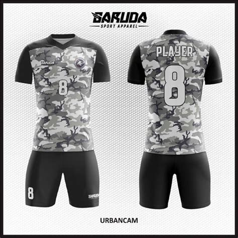 kumpulan desain baju jersey futsal army corak loreng