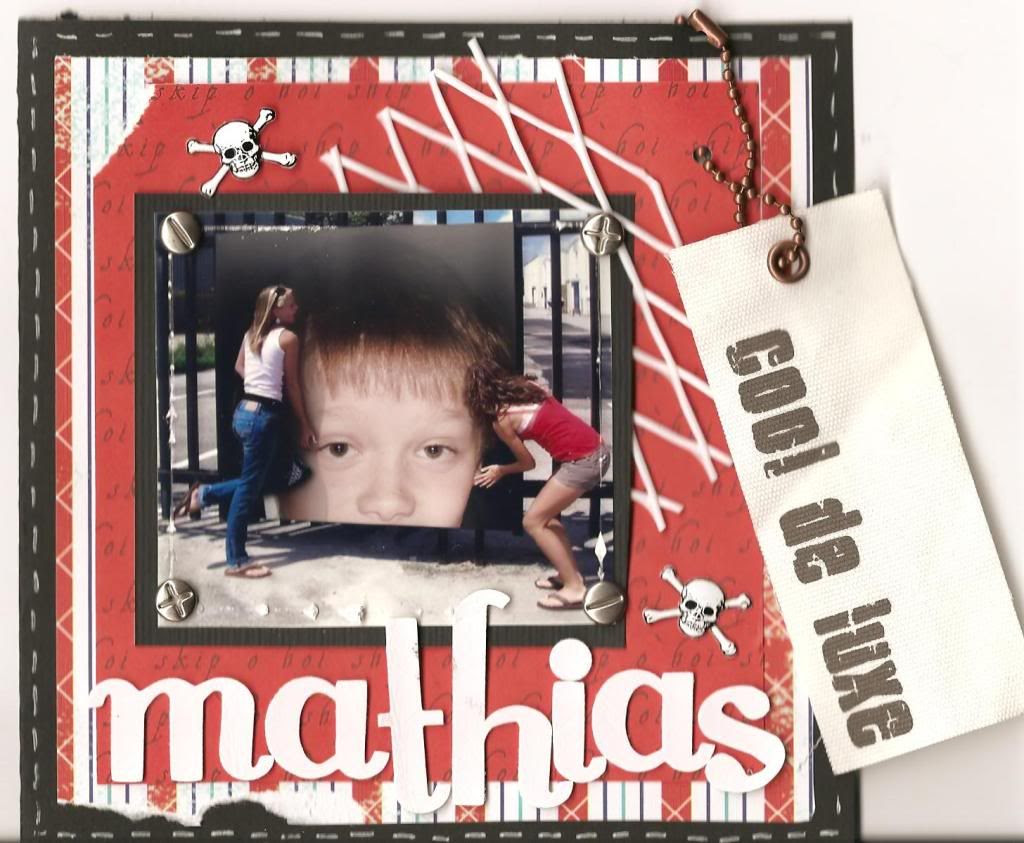 Forsiden av bursdagskortet, fnis.. Mathias blir 11 år!