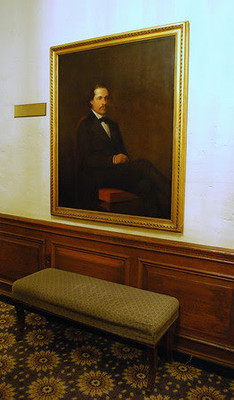 Portrait of Nathaniel Hawthorne on the Mezzanine Level at the Omni Parker House
