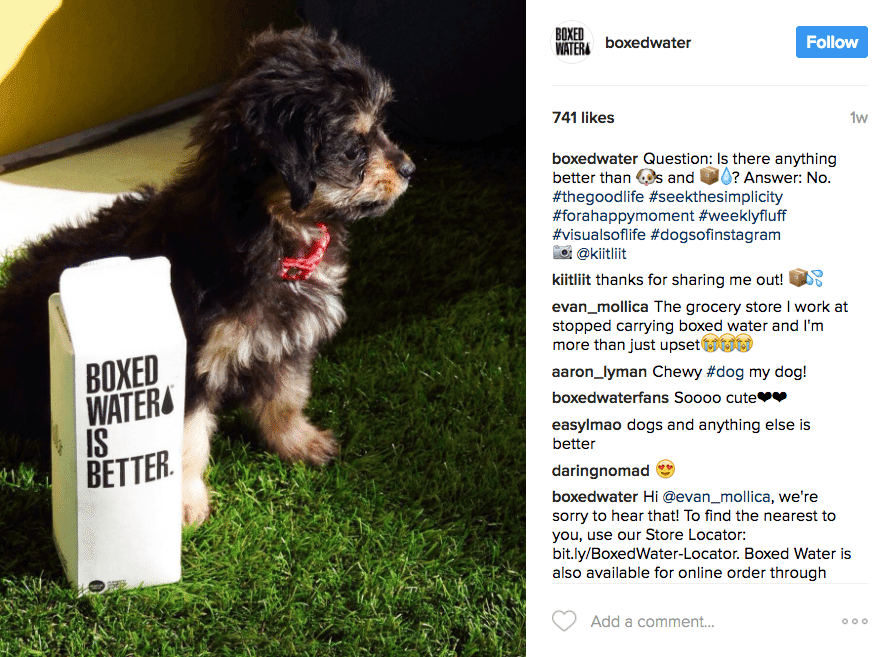 User-generated content by Boxed Waters customers