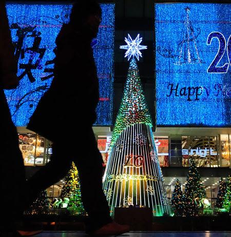 Gallery Christmas lights: China
