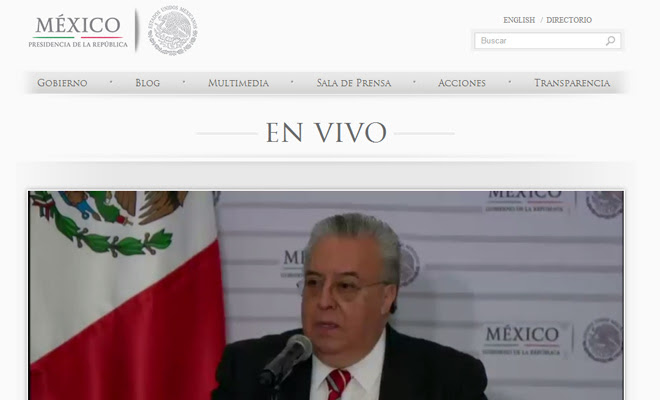 republic of mexico presidential website