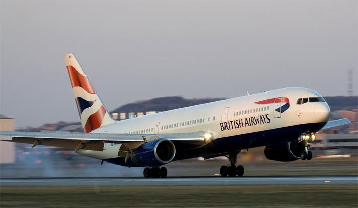 British Airways 767 in Monrovia