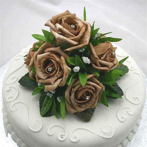 Cake Decorations   Mocha Rose Luxury Cake Topper   Silk