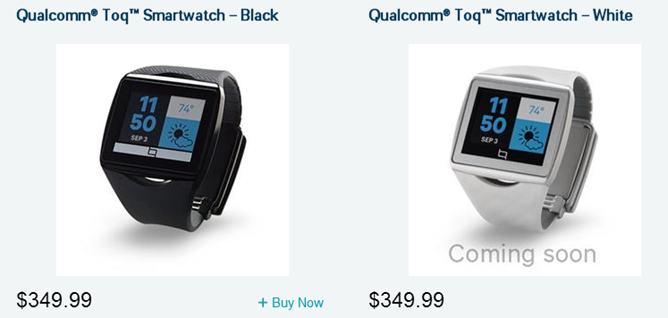 The Qualcomm Toq Smart Watch Is Available For Purchase, Ships In 1-2 Weeks