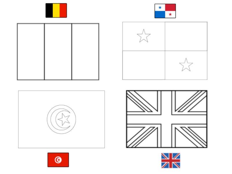 Dibujo Para Colorear Copa Mundial De Fútbol 2018 Grupo G Bélgica