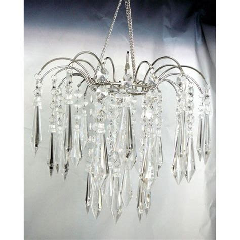 Clear Teardrop Crystal Fountain Chandelier [ZHLLWF4 CRY