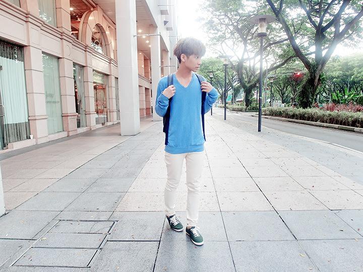 typicalben blue sweater ootd