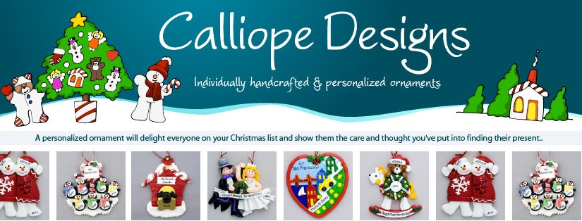 Enter to win a handmade Christmas ornaments from Calliope Designs. Ends 12/14.